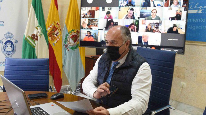 El Alcalde anuncia que la línea de ayudas directas de 300.000 euros beneficiará a 600 autónomos y pymes algecireños