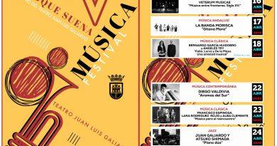 El V Festival San Roque Suena, en el Teatro Juan Luis Galiardo del 16 al 24 de abril