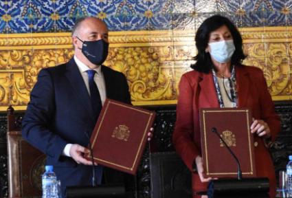 La secretaria de Estado de Defensa y el alcalde rubrican el protocolo para la cesión al Ayuntamiento del antiguo Gobierno Militar